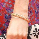 Bracelet detail - Meghan, Duchess of Sussex on October 24, 2018 in Suva, Fiji.