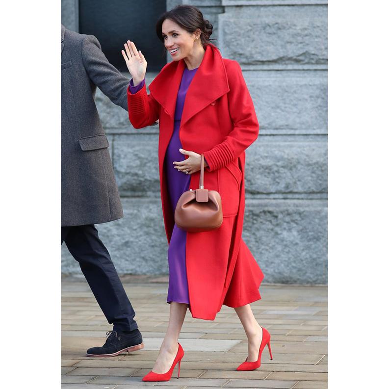 Meghan, Duchess of Sussex in Birkenhead on 14 January, 2019.