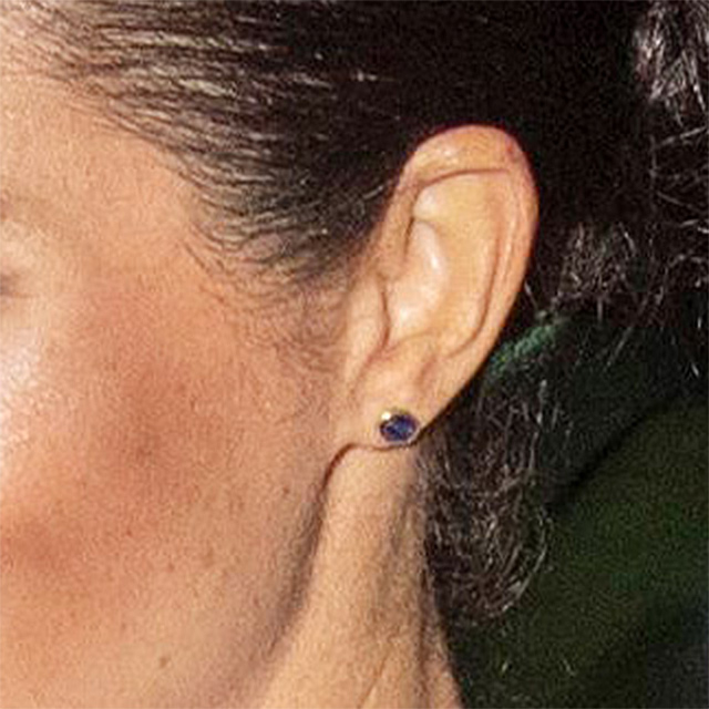Earring detail - The Duke And Duchess Of Sussex Attend The Cirque du Soleil Premiere Of 'TOTEM' In Support Of Sentebale