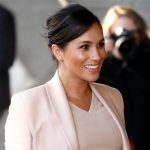 Meghan, Duchess of Sussex visits The National Theatre on January 30, 2019 in London, England.