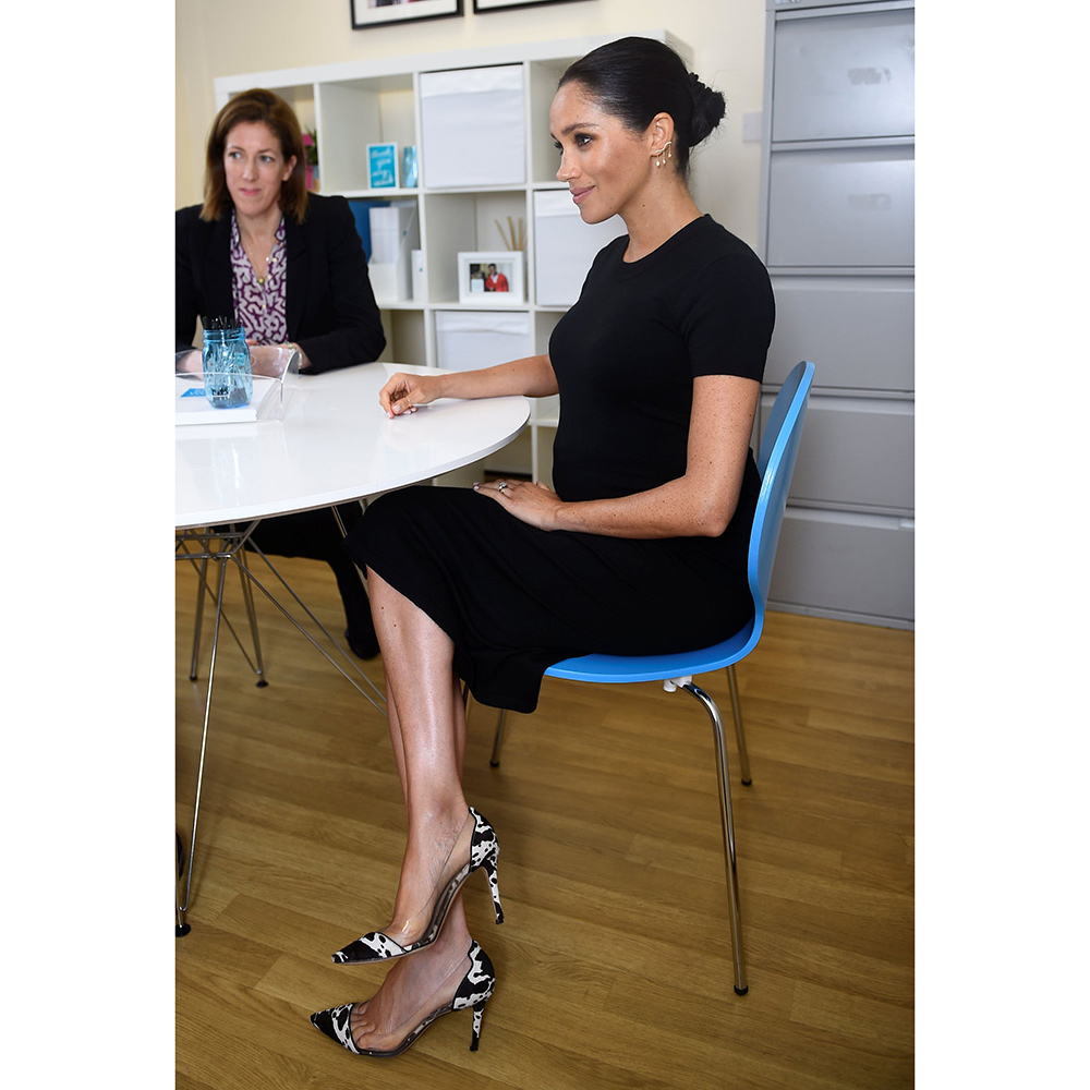 Meghan, Duchess of Sussex visits Smart Works on January 10, 2019 in London. Smart Works is one of four organisations which she has become Royal Patron of.