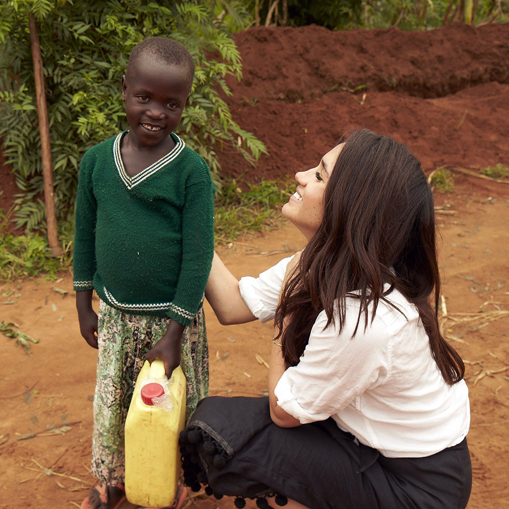 Meghan Markle in Rwanda with World Vision Canada in February 2016.