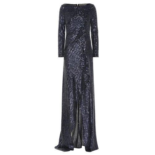 Roland Mouret navy sequined gown as seen on Meghan, Duchess of Sussex