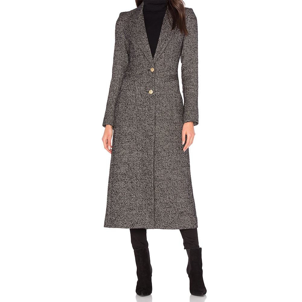 Smythe Brando Coat in Salt and Pepper as seen on Meghan Markle