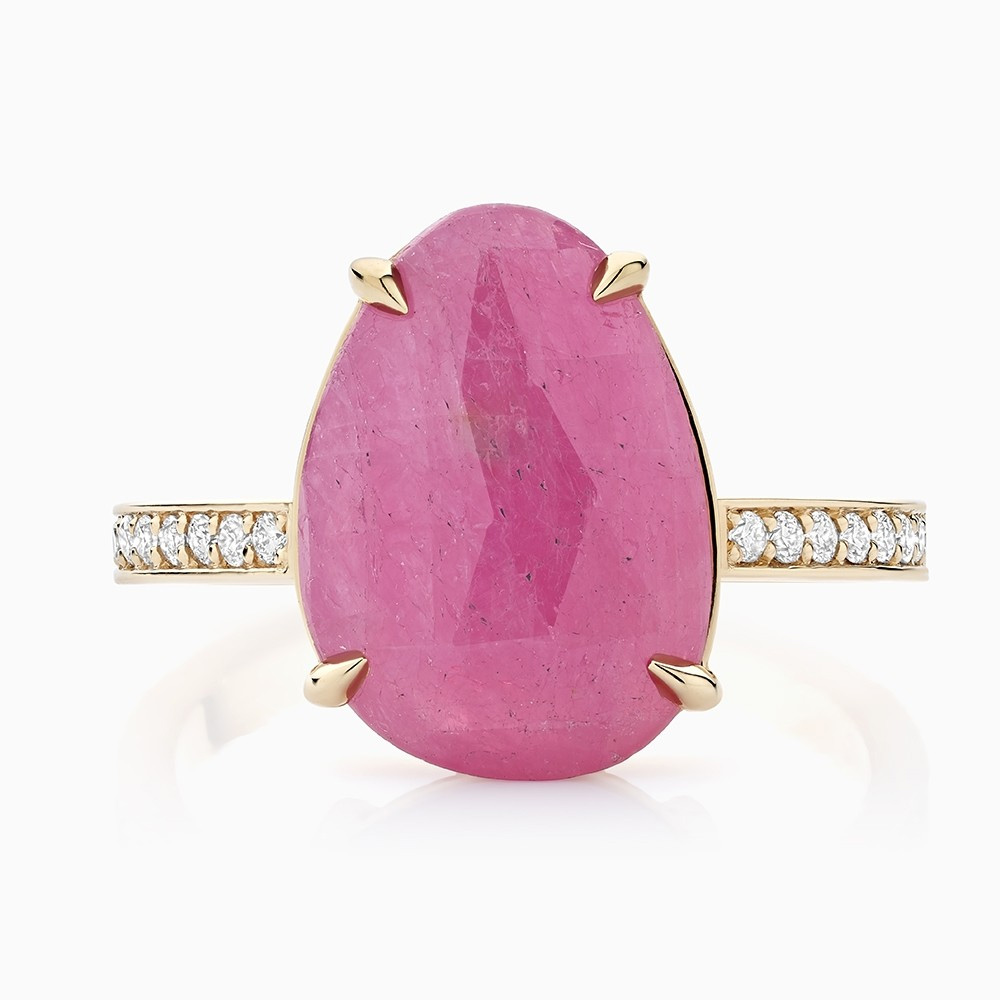 Ecksand Cirque Ruby Ring as seen on Meghan, Duchess of Sussex