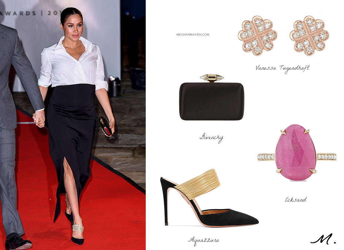 Shop the Look - Meghan, Duchess of Sussex attends the Endeavour Fund Awards at Drapers' Hall on February 07, 2019 in London, England.