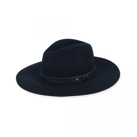 b5be0d3dc3f Rag   Bone Wide brim fedora hat in Navy as seen on Meghan Markle   Duchess