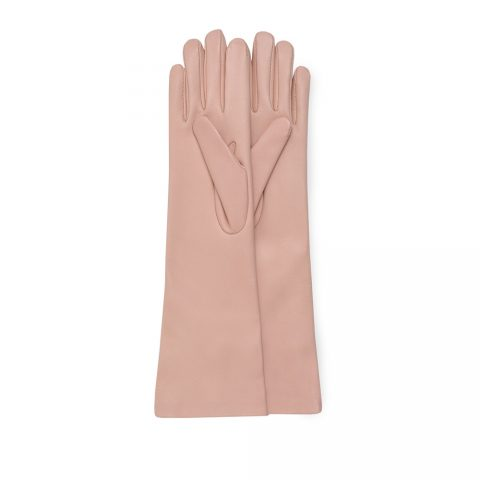 Gianvito Rossi long Dahlia pink gloves as seen on Meghan, Duchess of Sussex