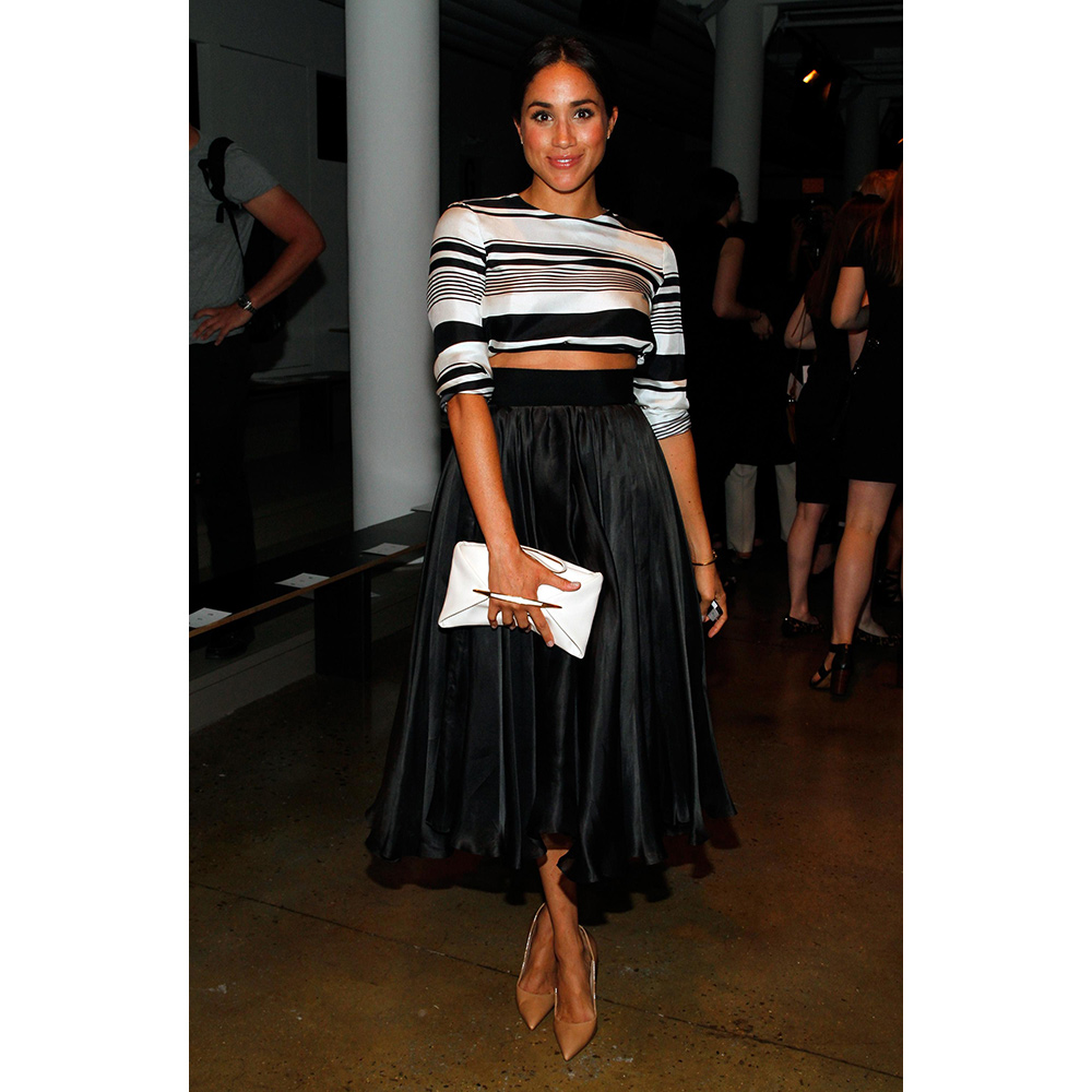 Meghan Markle attends the Peter Som fashion show during Mercedes-Benz Fashion Week Spring 2015 at Milk Studios on September 5, 2014 in New York City