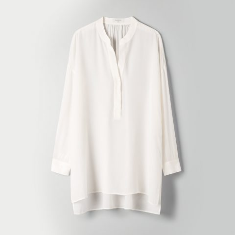 Aritzia Babaton Roland Popover tunic blouse as seen on Meghan Markle, Duchess of Sussex