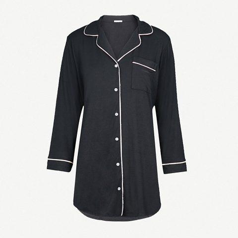 Eberjey 'Gisele' Button Down Sleepshirt as seen on Meghan Markle as Rachel Zane on Suits Season 4 Episode 2.