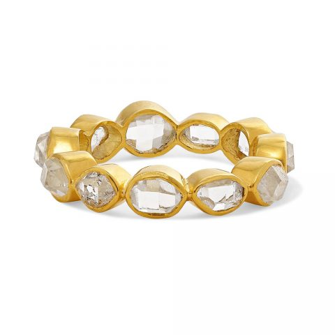 Pippa Small Crystallinity 18-karat gold Herkimer diamond ring as seen on Meghan, Duchess of Sussex