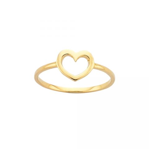 Karen Walker Mini Heart Gold Ring as seen on Meghan, Duchess of Sussex