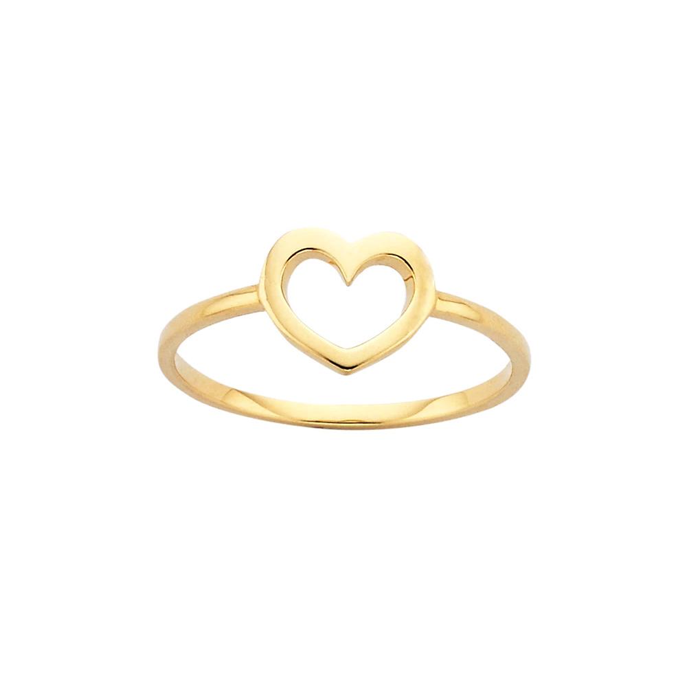 Karen Walker Mini Heart Gold Ring as seen on Meghan, Duchess of Sussex