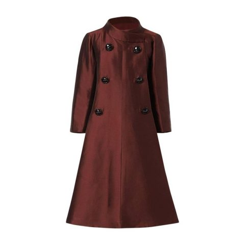 Dior 1960s by Marc Bohan Haute couture evening silk brown coat from William Vintage