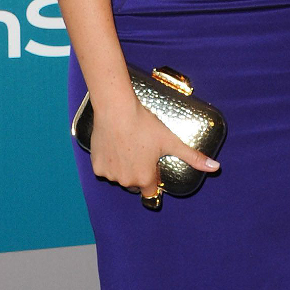 bb789134182 Clutch bag detail - Meghan Markle arrives at the 13th Annual Warner Bros.  and InStyle. NEXT PREV. Kotur Morley Croc-Embossed Box ...